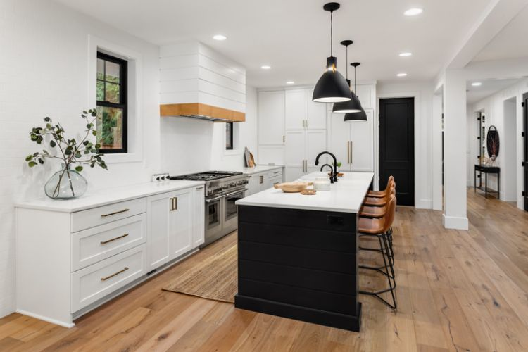simple modern renovated kitchen at cairns carpentry